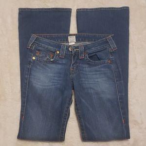TRUE RELIGION Boot Cut Medium Wash Jeans sz 27